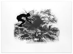 Kara Walker Deadbrook after the Battle of Ezra's Church from Harper's Pictorial History of the Civil War (Annotated) 2005 Offset lithography with silkscreen on Somerset textured paper Image size:  24 x 35 inches  (61 x 88.9 cm) Paper size:  39 x 53 inches  (99.1 x 134.6 cm) Edition of 35 Signed, dated and numbered lower right in graphite