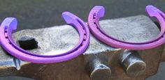 www.horsealot.com, the equestrian social network for riders & horse lovers | Equestrian World : purple horseshoes.