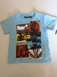 Kenneth Cole Reaction T Shirt For Boys Size 3 Baby Blue Color #KennethColeReaction #Everyday