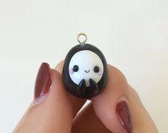 Chubby Kawaii No Face Charm, Studio Ghibli Jewelry, Spirited Away, Polymer Clay
