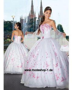 Abendkleid Ballkleid Brautkleid mit Corsage