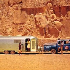 During the Wally Byam, the founder of Airstream, Inc., brought caravans of his silver trailers to astonishingly remote places. Vintage Airstream, Vintage Travel Trailers, Vintage Campers, Retro Campers, Vintage Caravans, Camper Life, Rv Life, Airstream Caravans, Living On The Road