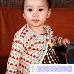 """""""Speckle"""" Knitted Babies' Top Pattern by Berroco - FREE Knitting Pattern - Planet Purl"""