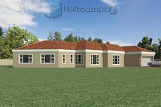 A 4 Bedrooms Tuscan styled house plans you can call home. This 4 Bedrooms Tuscan styled house design is perfect for your medium size family. House Layout Plans, Garage House Plans, House Layouts, 6 Bedroom House Plans, Master Bedroom Plans, Architect Design House, House Design, Tuscan House Plans, Double Storey House Plans