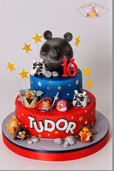 Video Game Cakes On Pinterest Minecraft Angry Birds And Star Wars Cake