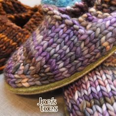 Joe's Toes - Joe's Toes Sam Knitted Slipper Kit UK sizes