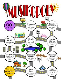 Love the idea of Musikopoly for young students in private lessons. I believe it would work very well for young piano students. :)