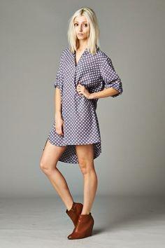 Gia Shirt Dress - Nobella Grace Boutique! Must have! #nobellagrace #shirtdress #springlooks