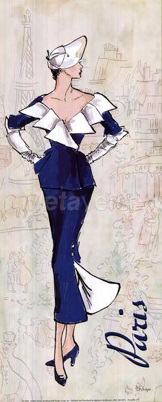 Through Elia's Eyes I Love Fashion, Fashion Art, Vintage Fashion, Fashion Design, Paris Fashion, Style Fashion, Fashion Illustration Vintage, Illustration Mode, Fashion Illustrations