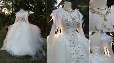 Swan Lake Ball Gown by Lillyxandra.deviantart.com on @DeviantArt (inspiration for my weding)