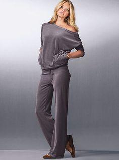 Back-pocket Velour Pant & Tunic Top