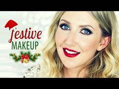 The Perfect Holiday Makeup Look - Glamorous Red Lips & Sparkling Eyes - YouTube