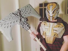 Another progress shot on the chest and axe for Lord Saladin Destiny Cosplay, Rise Of Iron, Costume Armour, Axe, Xbox One, Weapons, Gaming, Lord, Crafts
