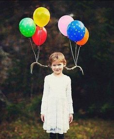 Balloon pig tails
