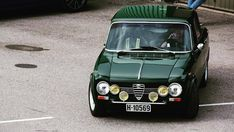 What makes a vehicle a classic? A classic car is an older automobile; The common theme is of an older car wit Alfa Romeo Junior, Alfa Romeo Cars, Retro Cars, Vintage Cars, Fiat 500, Alfa Romeo Spider, Alfa Romeo Giulia, Car Mods, Classic Cars