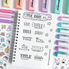 Bullet Journal Layout Ideas: 29 Unbelievably Gorgeous Spreads To Try – The Gorgeous List Bullet Journal Inspo, Bullet Journal Headers, Bullet Journal Banner, Bullet Journal Aesthetic, Bullet Journal 2019, Bullet Journal Ideas Pages, Bullet Journal Spread, Bullet Journal Layout, Hand Lettering