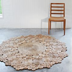 Armadillo and Co Flower Weave Geranium Hemp Rug. Available now at Urban Couture.