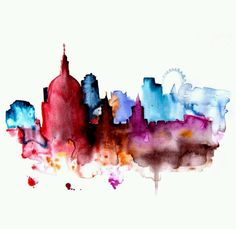 watercolors city