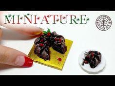 미니어쳐 크리스마스 케이크 만들기 (초코 스펀지 케이크) MINIATURE Christmas Chocolate Cake / 딩가의 회전목마 - YouTube