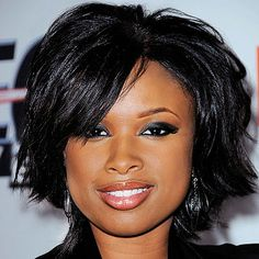Jennifer Hudson 2015 Hairstyles, Curly Bob Hairstyles, Hairstyles For Round Faces, Short Hairstyles For Women, Black Hairstyles, American Hairstyles, Beautiful Hairstyles, Crazy Hairstyles, Stylish Hairstyles