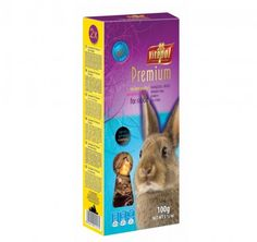 Vitapol Smakers Premium dla królika. Mieszanka paszowa pełnoporcjowa dla królika w postaci pożywnego smakołyku.
