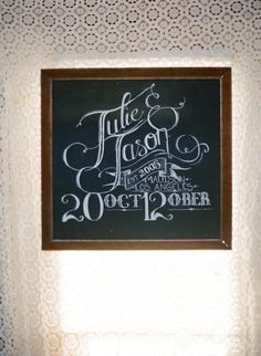 Wisconsin Barn Wedding from Lexia Frank Photography Chalkboard Typography, Wedding Typography, Chalkboard Designs, Chalkboard Ideas, Wedding Art, Cricut Wedding, Lodge Wedding, Wedding Ideas, Wedding Things