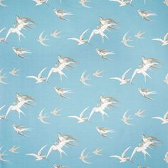 """Sanderson """"swallows"""" pattern (originally from the 1930's) - available in wallpaper and fabric."""