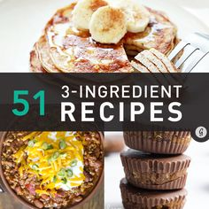 So easy, still healthy #recipes #healthy http://greatist.com/eat/3-ingredient-healthy-recipes