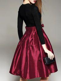Knitting Knee Length dress