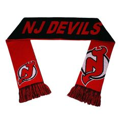 Adult Forever Collectibles New Jersey Devils Reversible Scarf, Red