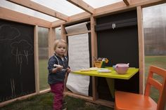 Salubrious cubby houses by Modern Cabana Playhouse Interior, Build A Playhouse, Playhouse Outdoor, Outdoor Play, Modern Playhouse, Playhouse Ideas, Girls Playhouse, Cubby Houses, Play Houses