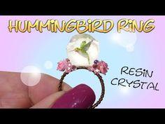 How To Cute Mini Hummingbird Ring Tutorial / DIY Resin Crystal Ring - YouTube