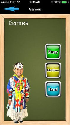 games app interface - Nakota first peoples  aboriginal north american language on the iTunes App Store