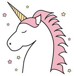 Pink unicorn kids nursery room decor impresión por Chachaprints