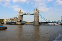 The Tower Bridge - opened in 1894 and spans 244 meters across River Thames in a London. London Blog, Trotter, River Thames, Tower Bridge, Vacation Ideas, Globe, Places To Go, Around The Worlds, Scene