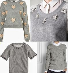 pins on sweater Diy Clothes Refashion, Diy Clothing, Fashion Details, Diy Fashion, Fashion Outfits, Sweatshirt Refashion, Diy Shirt, Diy Pullover, Little Presents