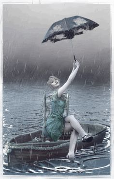 lluvia en la barca