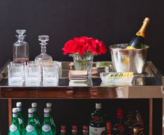 Order, balance and beauty on the bar cart