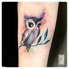 cute owl bird tattoo More
