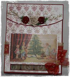 Gunns Papirpyssel, serviett eske med telys, napkin giftbox with warm light