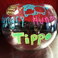 Cool tip jar inspired by the classic board game Hungry Hungry Hippos. These hippos are hungry for Tijuana Flats. #tacos #queso #mexican #creativity (Photo credits: @liebe_melissa via Instagram)