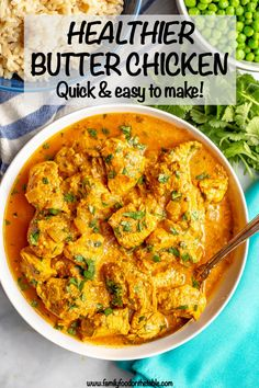 Recipes Indian Healthy butter chicken is a delicious Indian dish with tender chicken pieces swimming in an amazing, creamy tomato curry sauce that's packed with spices and flavor. This easy recipe is ready in 30 minutes! Salsa Curry, Tomato Curry, Quick Chicken Curry, Butter Chicken Curry, Chicken Makhani, Easy Indian Recipes, Easy Recipes, Recipes Dinner, Dinner Ideas