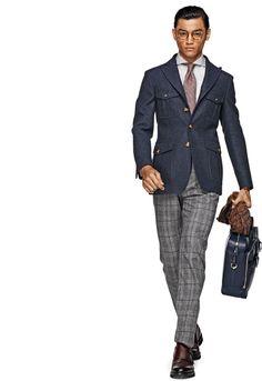 Jacket Blue Plain Christopher C699 | Suitsupply Online Store
