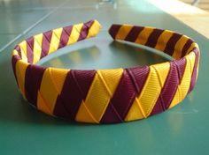 Wonder if I could make this?? Harry Potter Gryffindor Headband by summergirlsbowtique on Etsy, $6.00