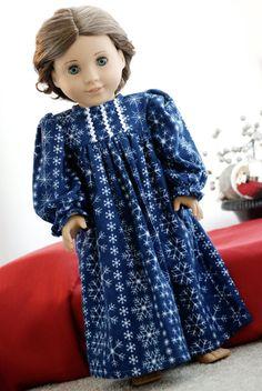 American Girl Doll Clothes Christmas Black by MyDressedUpDoll
