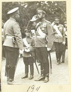 Tsarevich Alexei Nikolaevich and Tsar Nicholas II