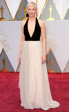 MICHELLE WILLIAMS in a custom Louis Vuitton gown. OSCARS 2017