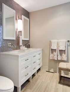 cabinet and top    Master Bathroom - contemporary - bathroom - toronto - Shirley Meisels