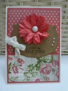 Christine Blain HAPPY HEART CARDS: STB #5: STAMPIN' UP!'S POP-UP POSIES CARD