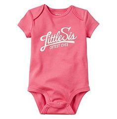 Carter's® Baby Girls' Little Sis Bodysuit